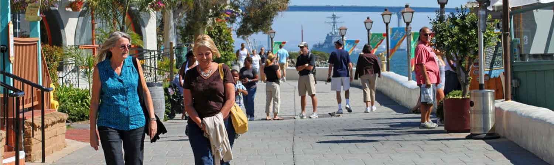 CREF San Diego California Seaport Village Boardwalk